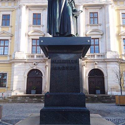 Albertus-Magnus-Denkmal vor Rathaus