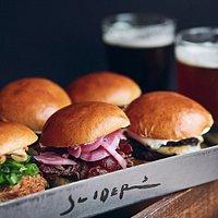Sliders & Beer - Our favorite setup