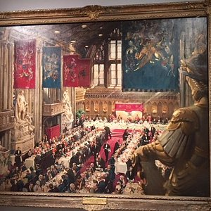 Terence Cuneo painting of the Queen's Coronation Lunch 1953