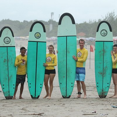 Fun Surf crew with students/ the students is a oneof  family from Belgium