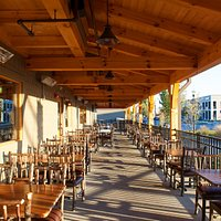 Big Woods Speedway's porch seating is a lovely fair-weather dining option.