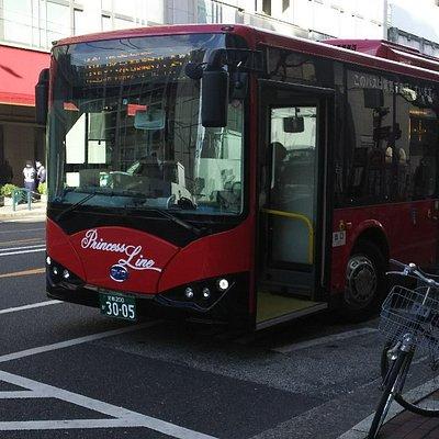 プリンセスラインのバス、四条河原町にて。