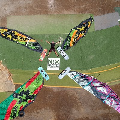 It is a windmill. Nix Kite School