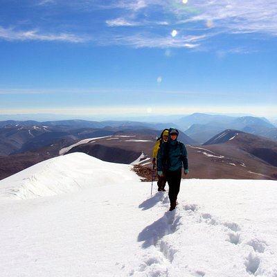 Our clients from 2016 on the top of Malchin Peak, Altai Tavan Bogd Mountains, Western Mongolia.