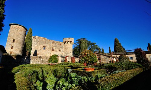 il castello dal giardino