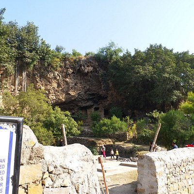 View of the caves from 50 Meter