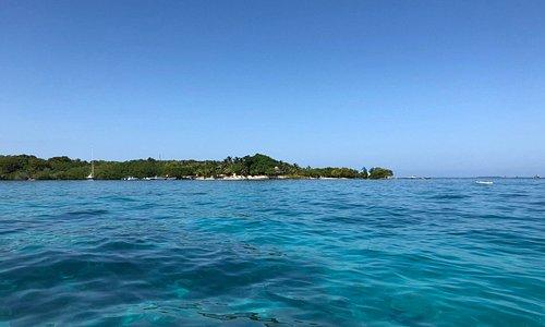 Clear Waters as we Approach Isla Grande