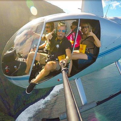 Doors off over Molokai!