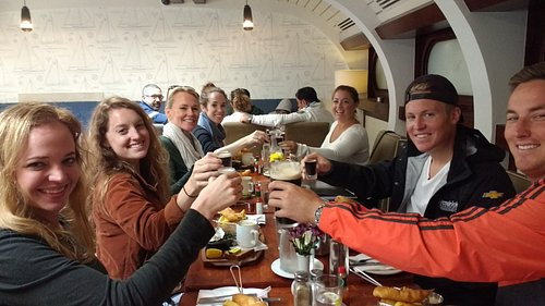 Cheers! Fantastic family and friends from Nort Carolina.