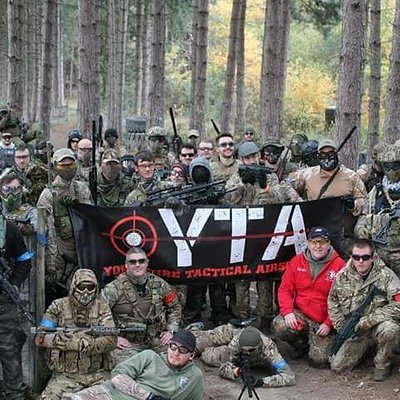 A team Photo from a typical day at Yorkshire Tactical Airsoft
