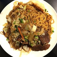 Noodle dish with beef
