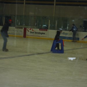 This shows part of the rink with a skater using the walker item- many used these