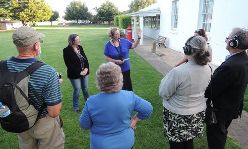 Our night tour begins on the Village Green, next to the Court House.