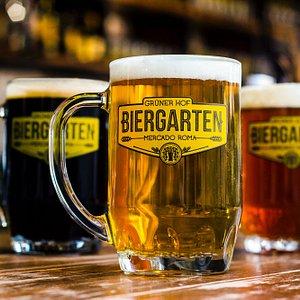 Cerveza de barril en tarro Biergarten