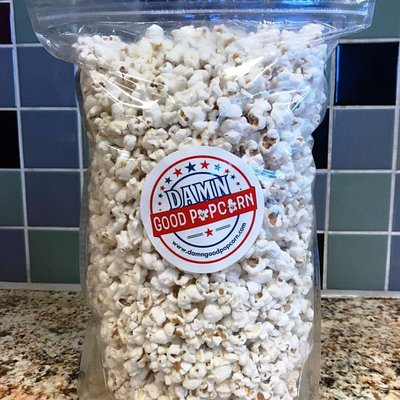 Large bag of our Dill Pickle Popcorn one of our top sellers!