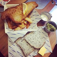 Home cooked meals at the Blacksmiths (Gluten free fish and chips)
