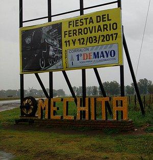 entrada a mechita desde la ruta desde Bragado