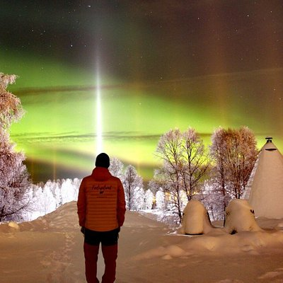 Enjoying this amazing view, northern lights are amazing