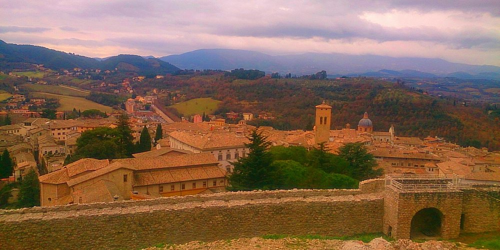Spoleto. View from the fortress.