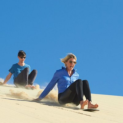 Sandboarding Fun Stockton Sand Dunes, Anna Bay, Port Stephens