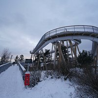 La Stovner Tower sous la neige en janvier