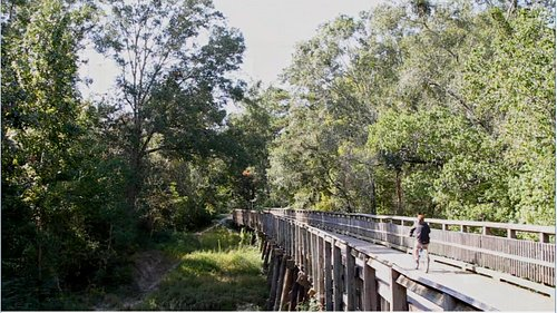 The 31-mile Tammany Trace hike and bike trail is in the Rails to Trails Hall of Fame.