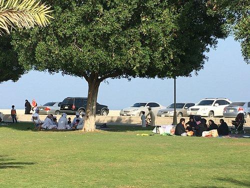 The park at Kalba Corniche