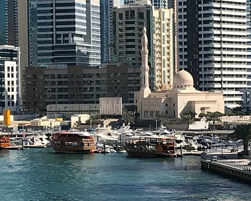 One of the unique mosques in dubai marina... Directly at the walk...
