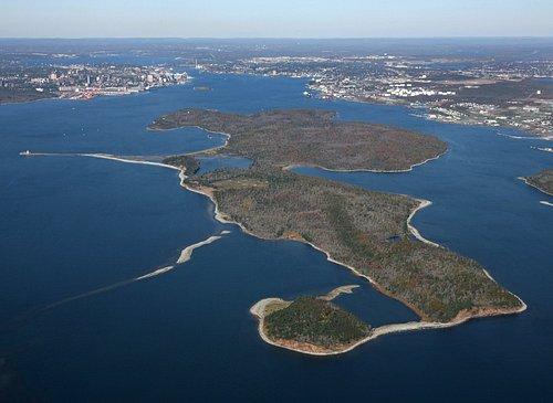 McNabs Island - 400 ha island park and historic site in Halifax Harbour Nova Scotia