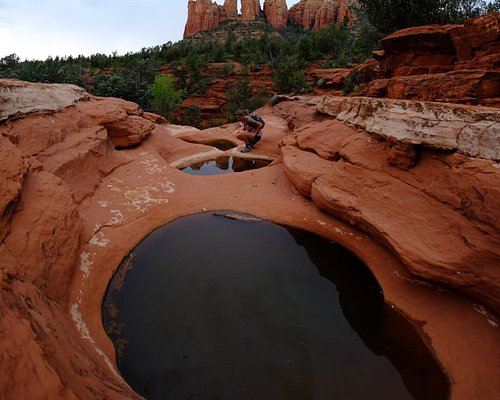 Sacred pools are a neat feature of this hike.