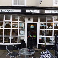Quantity and quality of food drinks and service here Cafe de Galles Wrexham