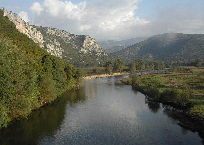 on the brige of Nestos river in Stavroupoli (north view)