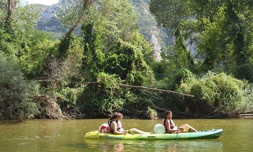 kayaking tour in Nestos Gorge