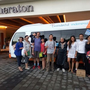 Our Indian tourist group with Nyoman after traveling around Bali for 4 consecutive days