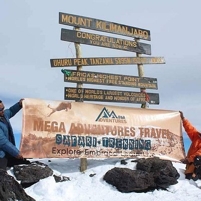 At the roof of the tallest mountain in Africa
