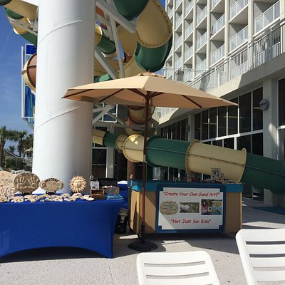 Our set up at the Crown Reef Beach Resort and Water park, Myrtle Beach, SC