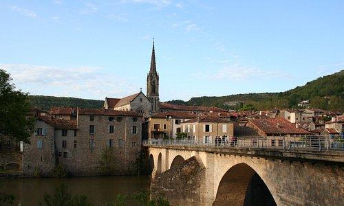 Vue sur le village de saint-Antonin
