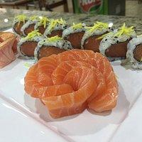 Sushis com peixe sempre fresquinho!!!