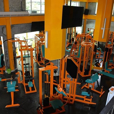 view from second floor over the gym