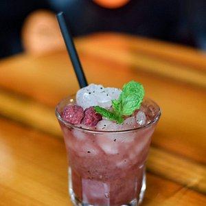 Pepper-raspberry Margarita