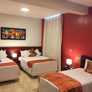 Triple Deluxe 2 camas de 2 plazas y 1 cama de 1 1/2 plazas