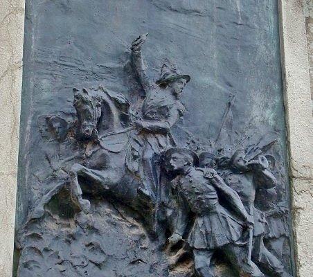 Manara mentre difende la Repubblica Romana