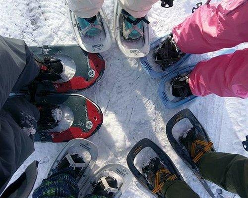 Good times snowshoeing in Niseko