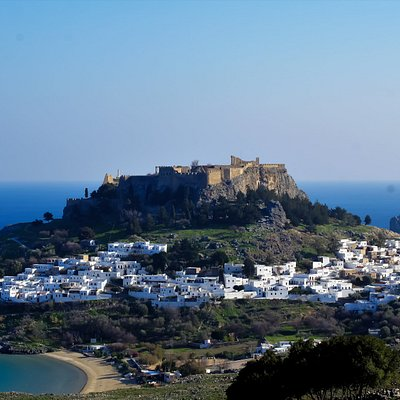 Lindos the Pearl of Rhodes. Let us take you there in comfort.