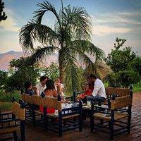 Degustazione sulla fantastica terrazza della cantina!!