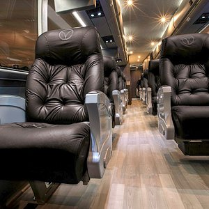 Vonlane coaches are designed for comfort and personal space.