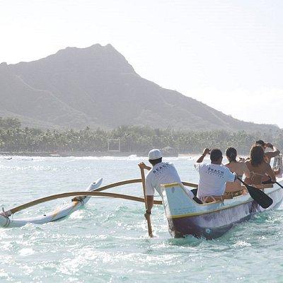 Outrigger Canoe Surfing