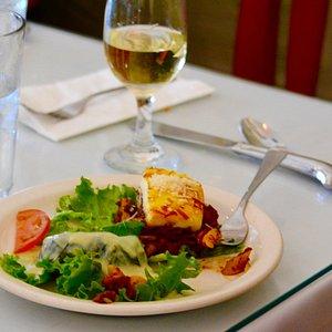Greek food and wine