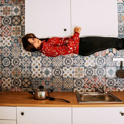 Upside-Down Kitchen for more magic