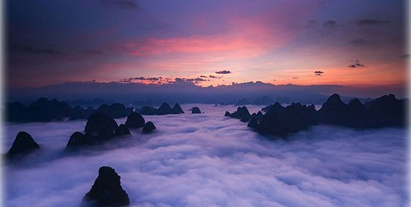Huangshan Mountains in Anhui province, China